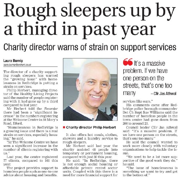 rough sleepers up